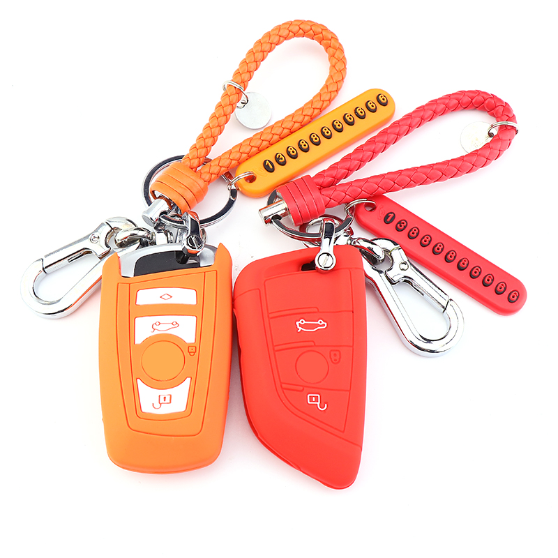 宝马钥匙包3系5系汽车专用刀锋钥匙套320三系x1x3x5钥匙壳扣硅胶