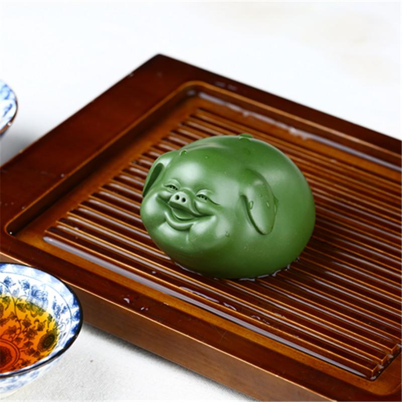 紫砂茶宠 猪摆件 精品雕塑小猪 名家纯手工 功夫茶具茶道周边摆设