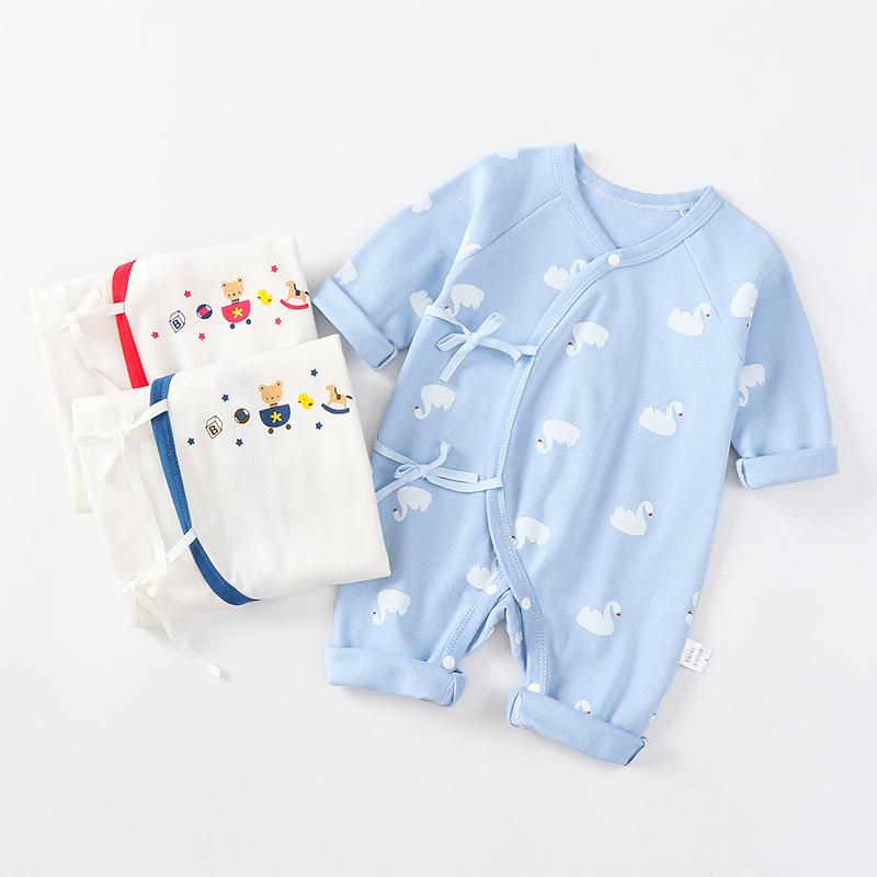 婴儿连体衣秋冬保暖纯棉新生儿衣服0-3月和尚服6初生男女宝宝哈衣