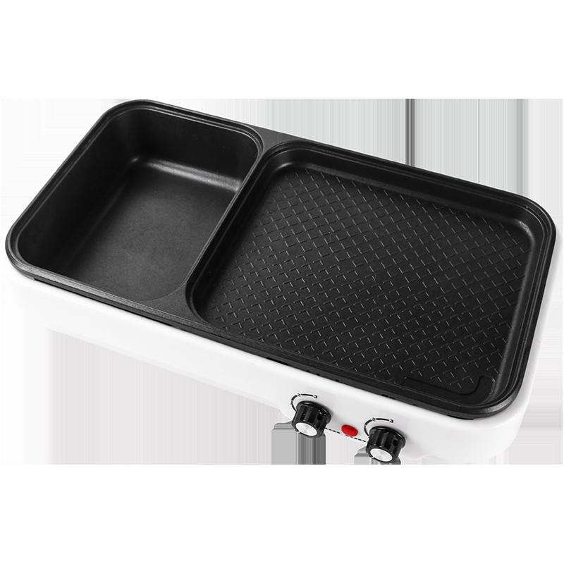 烤肉火锅一体锅烤涮盘无烟烤肉锅涮锅烤肉盘电烤盘电烤炉家用烧烤