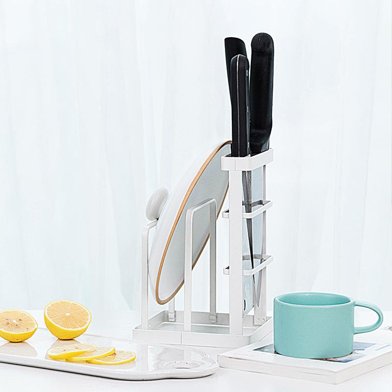 凡益 刀具架菜板锅盖架多功能厨房置物架刀具收纳架 桌面摆放款