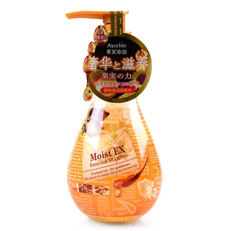 果实瑜伽密集滋润日本进口无硅油洗发水 护发素 发膜植物氨基酸
