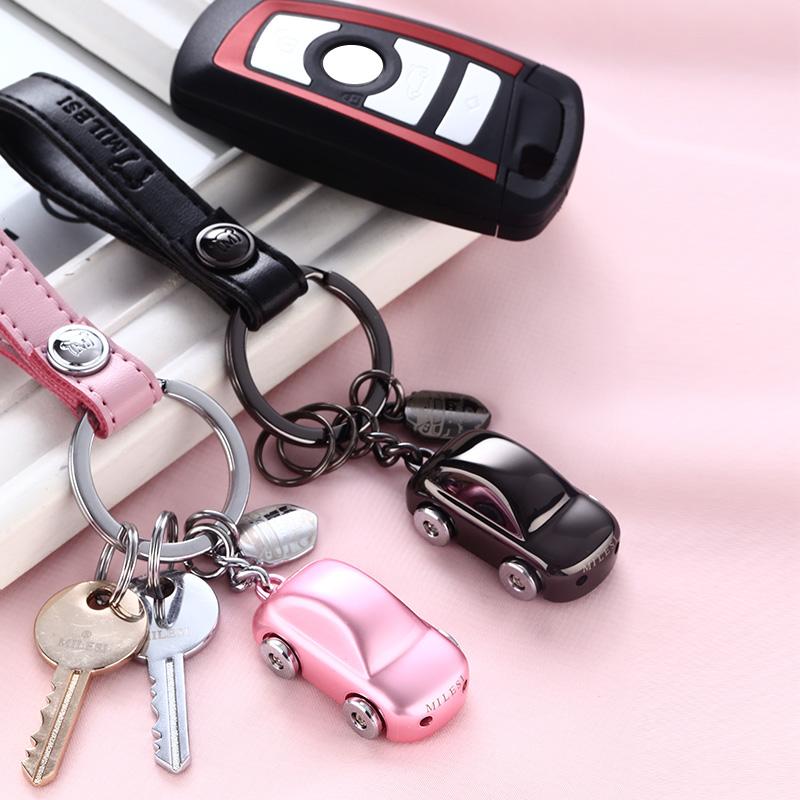 米勒斯网红小汽车钥匙扣情侣款挂件个性创意定制男士女钥匙链可爱