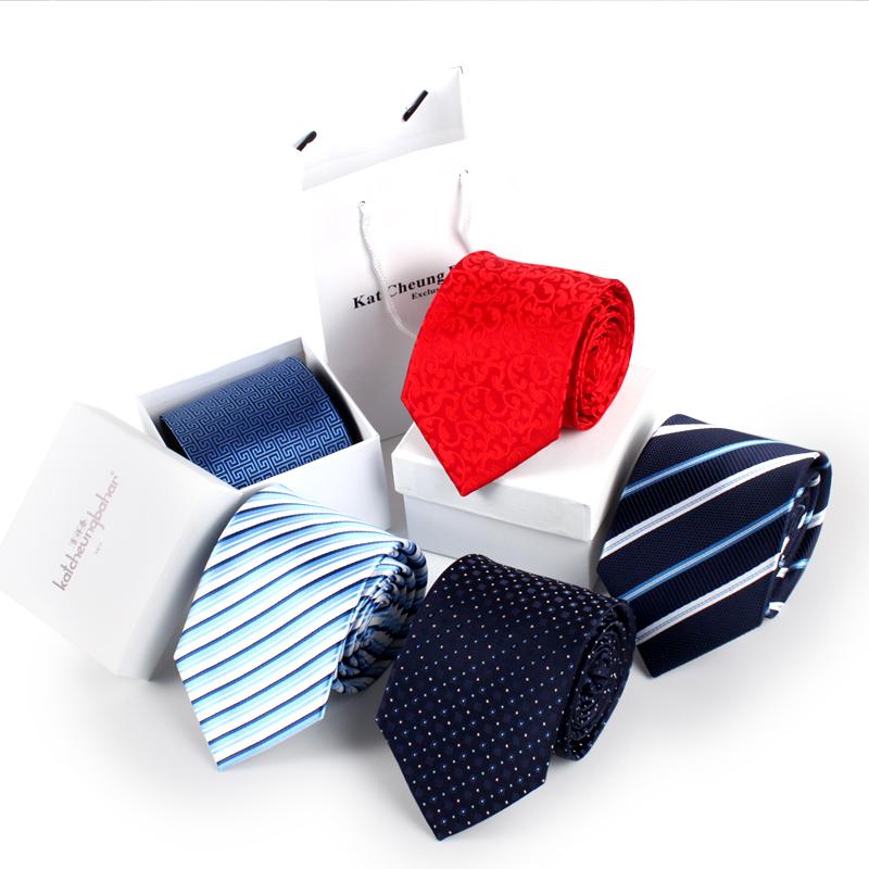 吉祥春领带男礼盒装商务正装职业新郎韩版条纹休闲学生面试领带