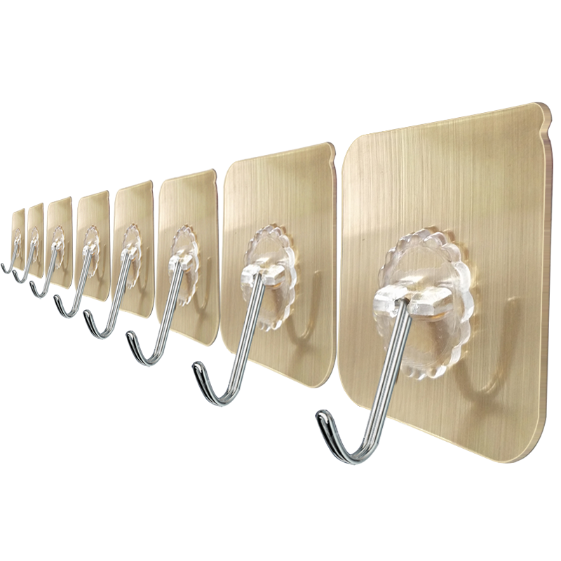 挂钩强力粘胶贴墙壁壁挂勾承重墙上厨房无痕粘贴20个装免打孔粘钩