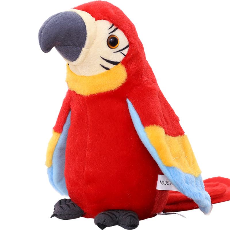 仿真毛绒儿童玩具学说话的电动小鸟智能声控会唱歌学舌鹦鹉录音