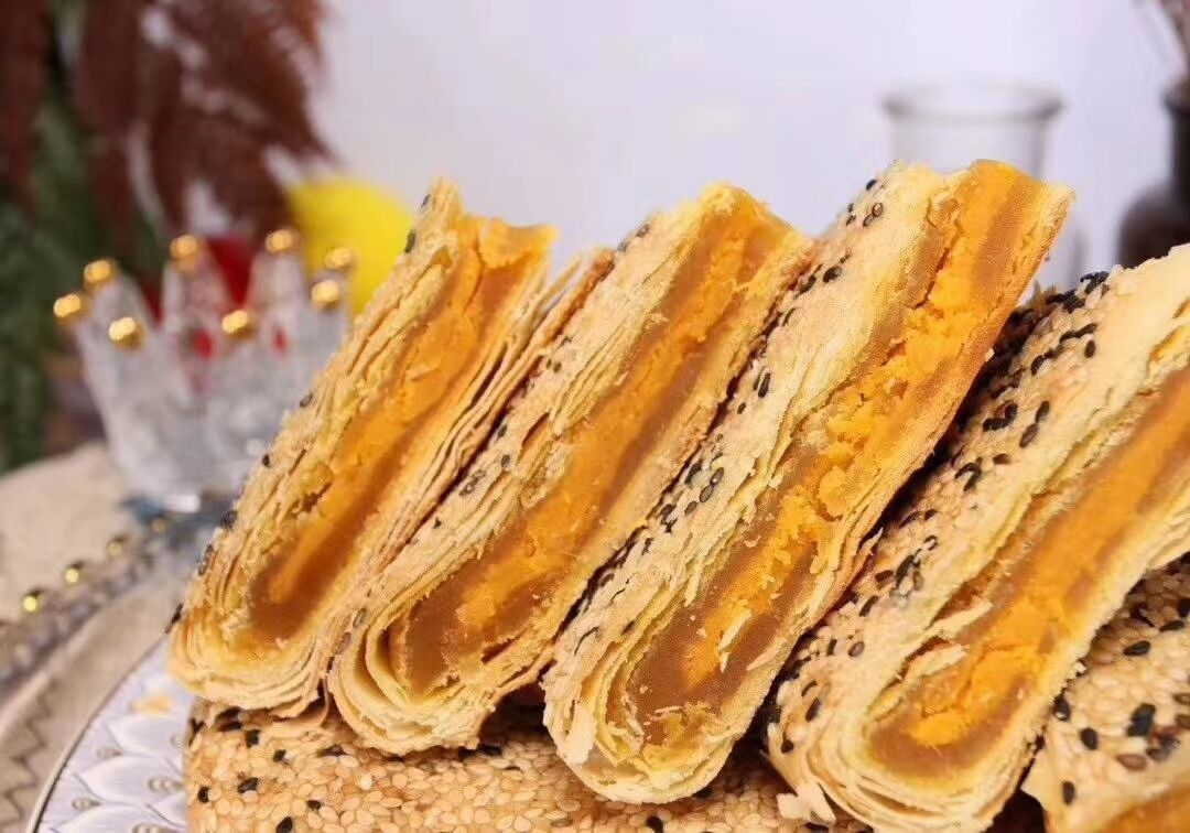 温州特产网红大酥饼月饼紫薯板栗香芋榴莲礼盒装中秋老式散装包邮