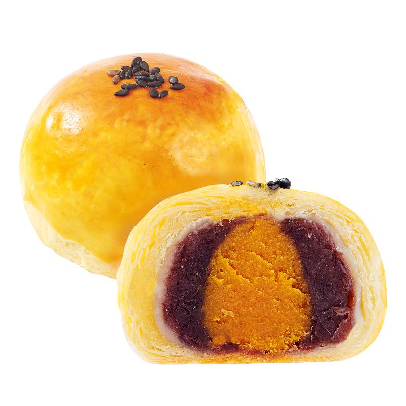 仟吉 蛋黄酥雪媚娘酥皮散装零食小吃网红糕点红豆薏米口味6枚装