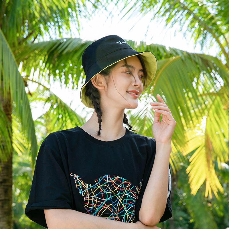 VVC渔夫帽女双面防紫外线防晒遮阳帽夏季夏天大帽檐太阳帽帽子