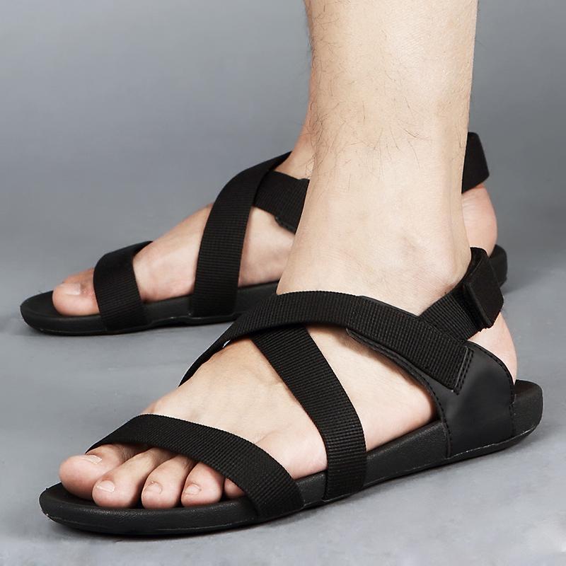 夏春季越南休闲男士沙滩凉鞋透气时尚韩版潮凉鞋男百搭防滑罗马鞋