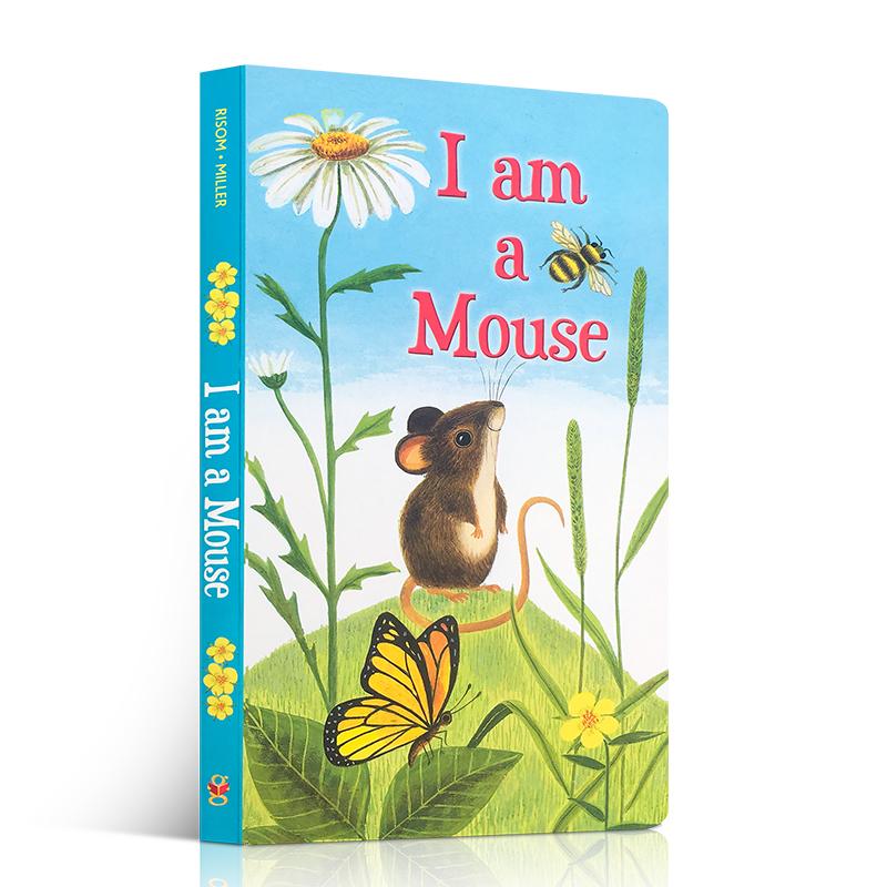 英文原版绘本I am a bunny同款 Kitten /mouse/puppy我是一只小猫老鼠小狗纸板书撕不烂启蒙儿童3-6岁亲子互动阅读经典睡前故事书