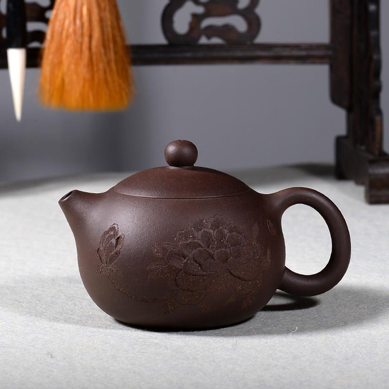 宜兴紫砂壶纯手工原矿名家全手工茶壶茶具老紫泥牡丹西施壶包邮