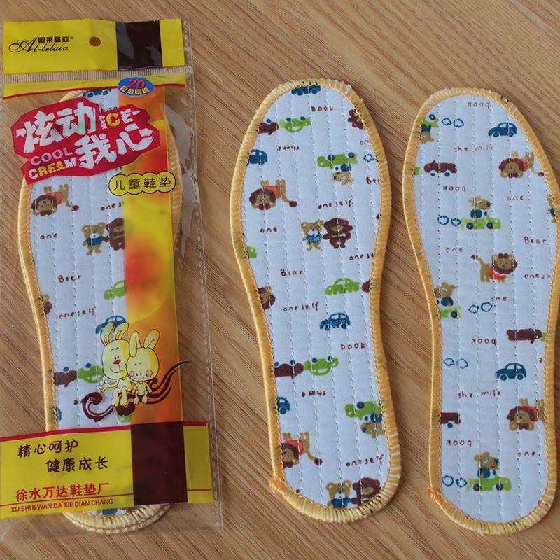 厂家直销儿童吸汗鞋垫宝宝小孩春秋季透气防臭儿童专用纯棉鞋垫