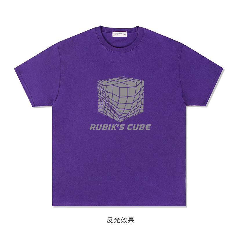 forthewin2020七彩反光魔方t恤