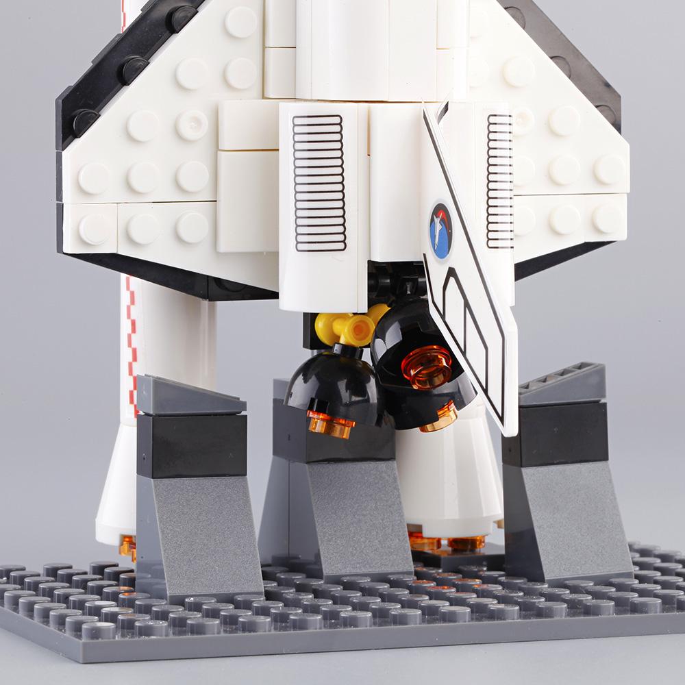 兼容乐高积木儿童益智阿波罗航天飞机发射站火箭拼装组装模型玩具