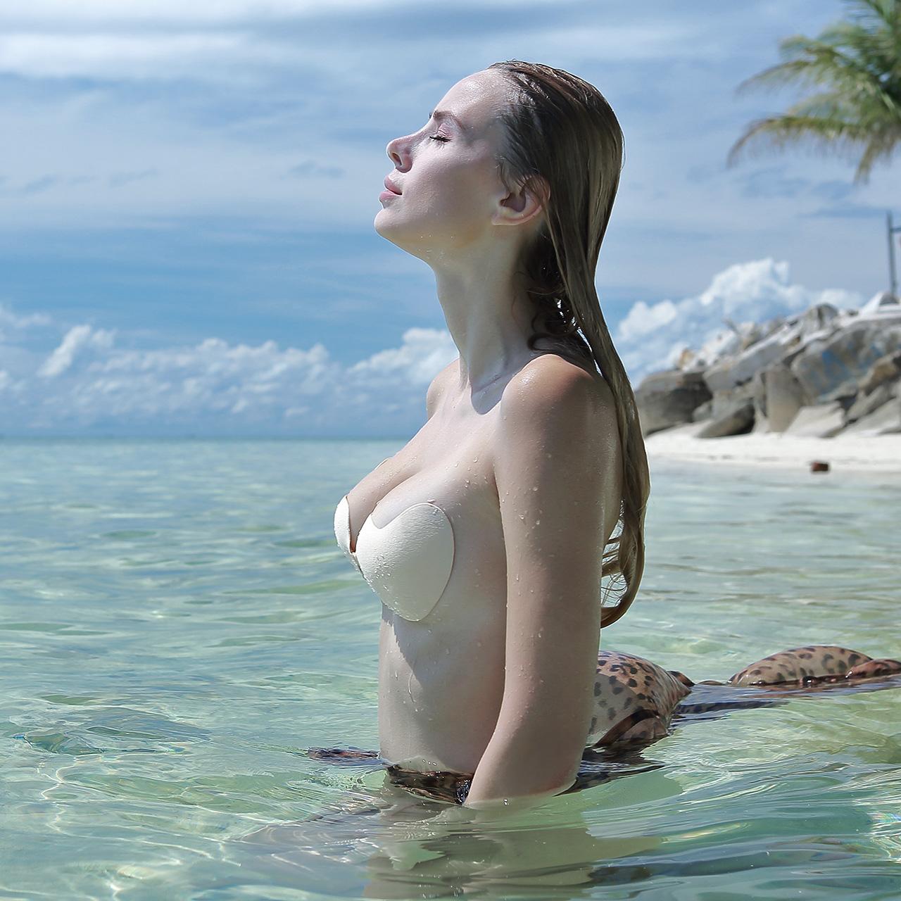 芬斯狄娜隐形文胸贴超薄乳贴女吊带用聚拢上托小胸专用无肩带内衣