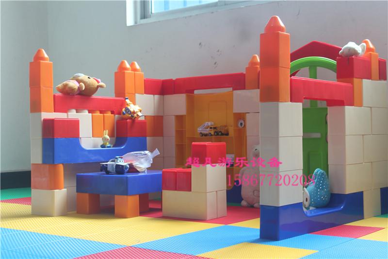 大型积木v积木房子拼搭塑料玩具幼儿园别墅女孩玩具娃娃儿童家城堡巴雷特男孩淘宝图片