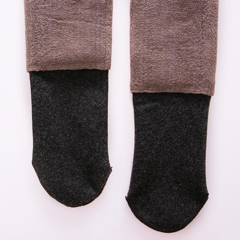 秋冬1800D连裤袜女加绒加厚美腿塑形打底袜立体竖纹显瘦仿羊绒感