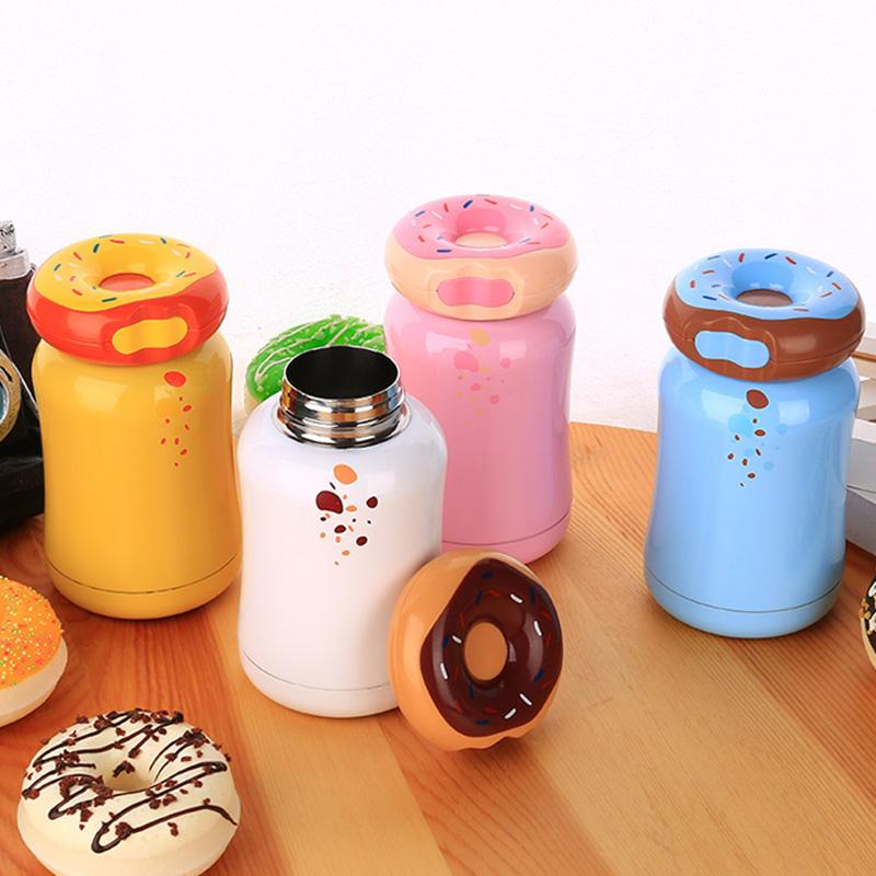 创意保温杯甜甜圈不锈钢水杯韩版可爱学生女儿童情侣幼儿园杯防漏