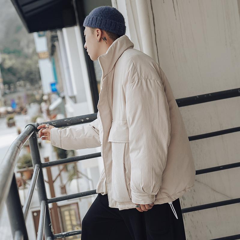 【特价】大口袋立领加厚面包服男士潮牌韩版宽松保暖棉衣外套