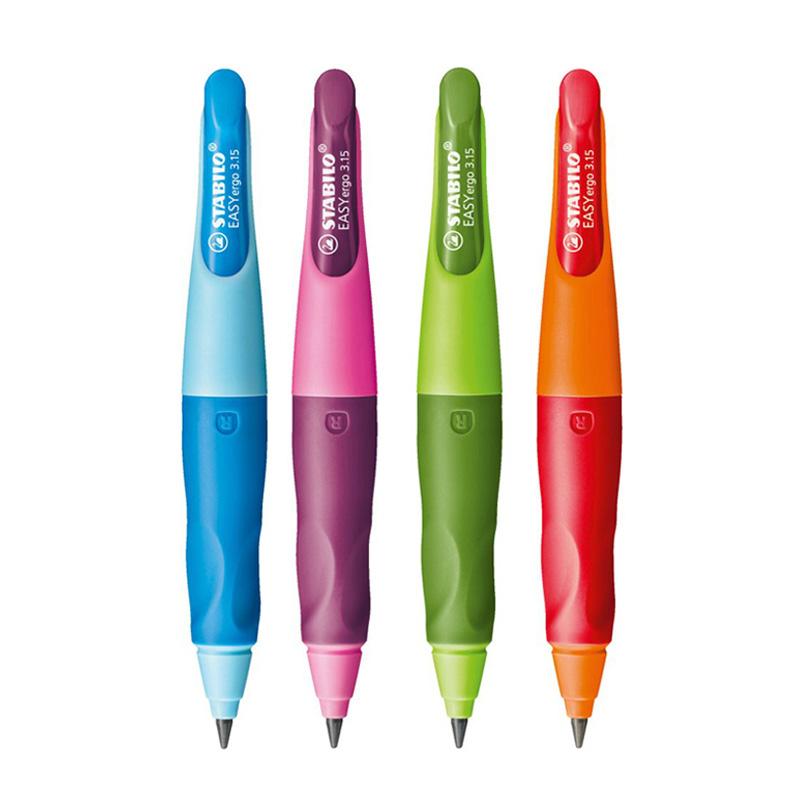 德国STABILO思笔乐进口自动铅笔握笔乐小学生矫正握姿可爱写不断3.15mm粗芯练字铅笔套装