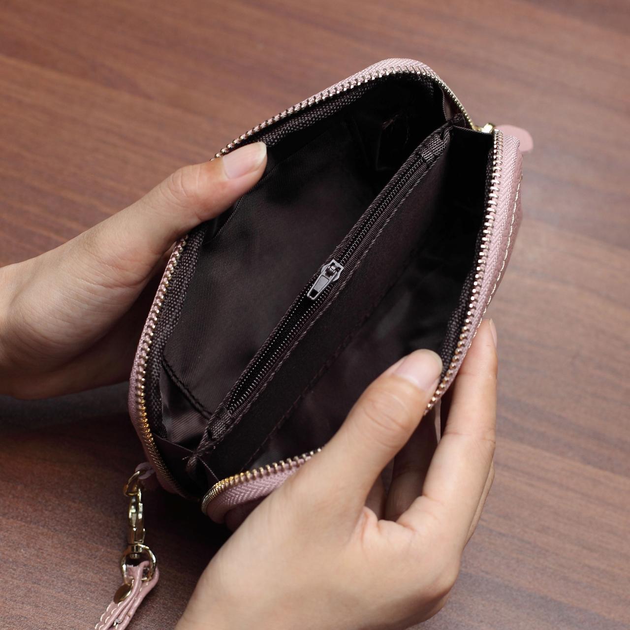 贝壳大容量手机钥匙零钱包多功能手拎女式时尚迷你小手包手拿小包