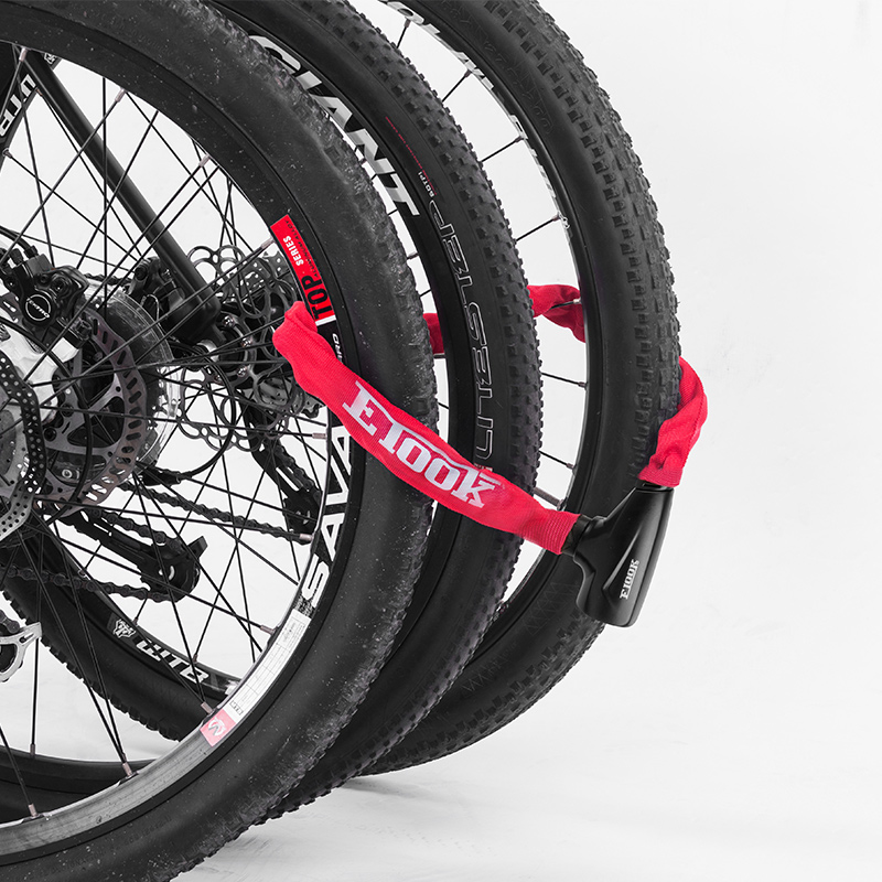 ETOOK自行车锁链条锁 防盗锁链子锁山地车公路车链锁 单车链条锁