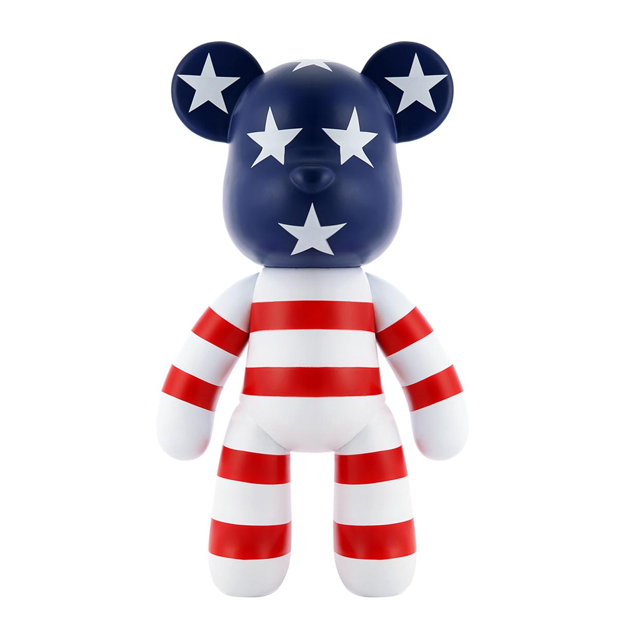摆件 公仔 大号 旗 美国 寸 15 熊 MOMO 暴力熊 正版 POPOBE TRST