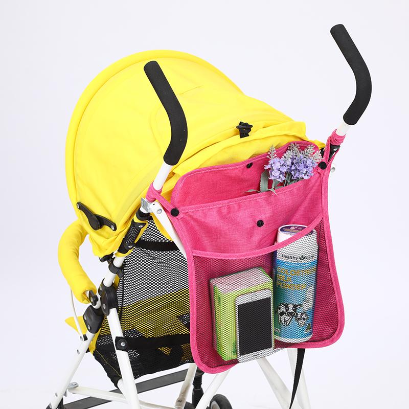 婴儿推车置物挂袋挂包小多功能收纳网袋兜宝宝伞车储物蓝通用