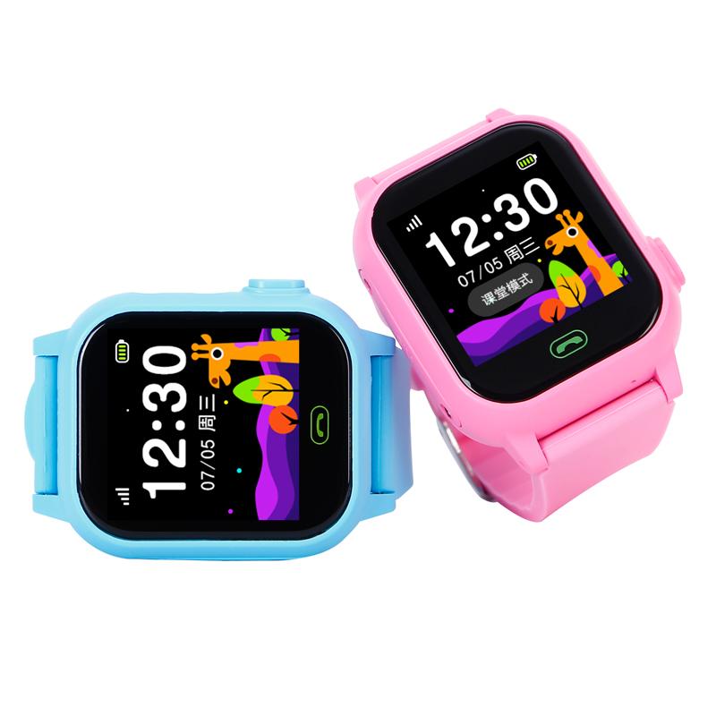 儿童电话手表触摸屏学生手机插卡智能定位能打电话手环防水男女孩