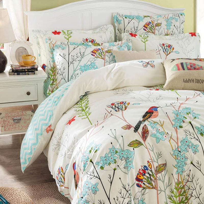 睡冬宝简约时尚纯棉四件套秋冬1.5m1.8米床全棉单舒适双人套件