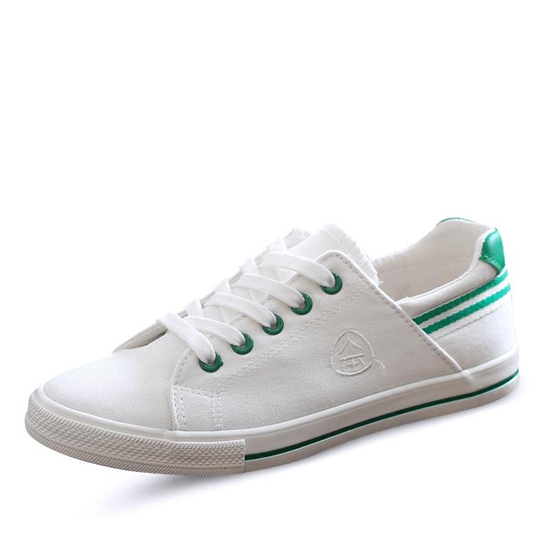 人本帆布鞋女2018春季新款低帮小白鞋女百搭韩版学生休闲平底板鞋