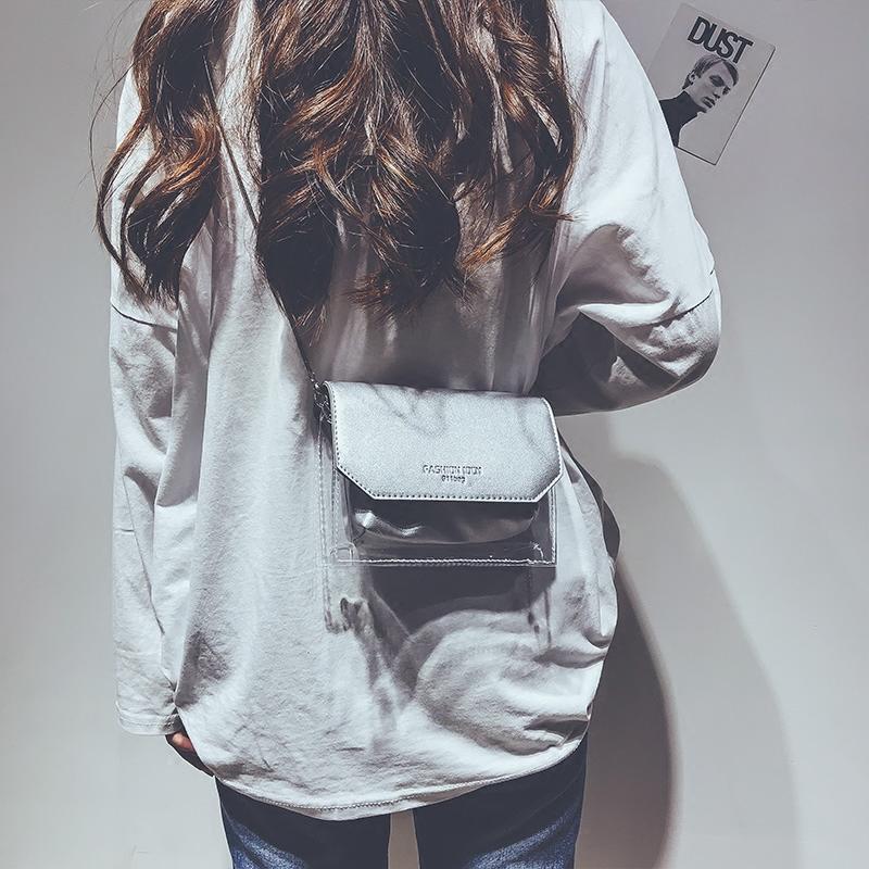透明果冻迷你小包包女2018夏天新款韩版百搭少女单肩斜挎链条包潮