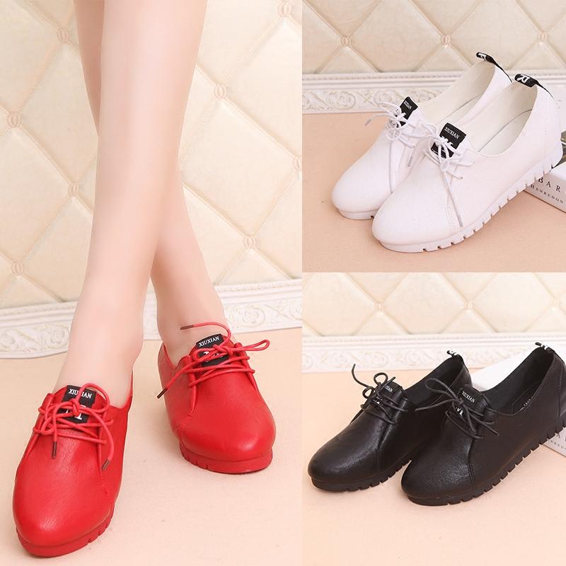 珍妮公主品牌新款英伦内增高软底小白皮鞋女防滑开车休闲系带单鞋