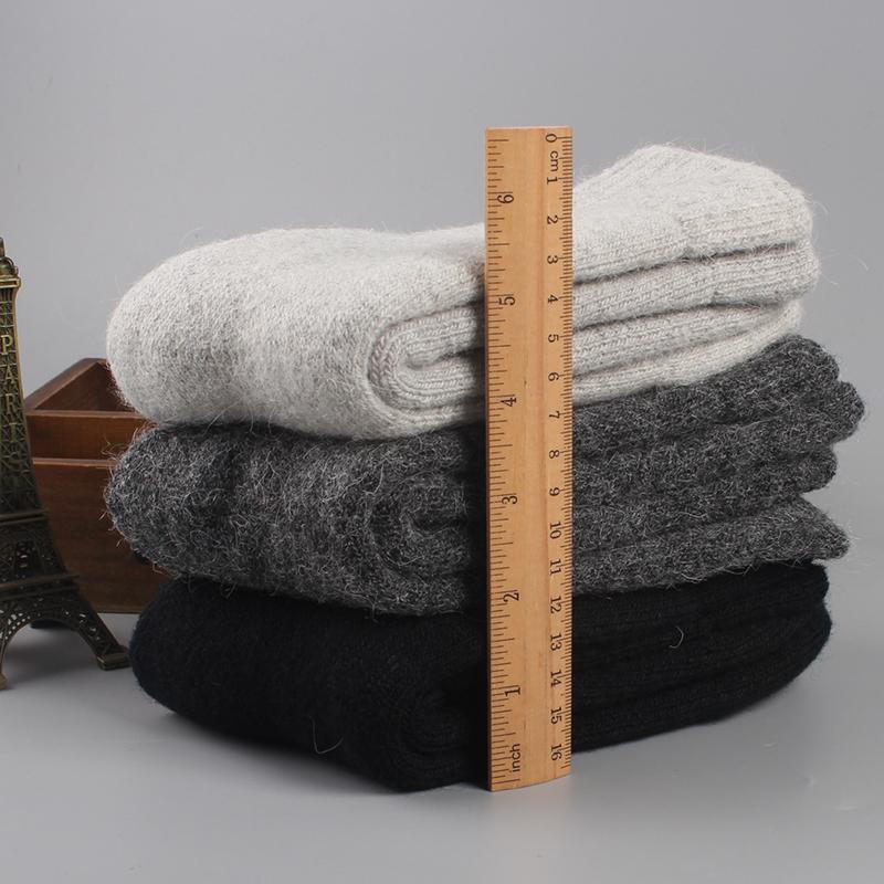 男士羊毛袜超厚加绒中筒袜冬季男袜女保暖毛巾袜子毛圈松口老人袜
