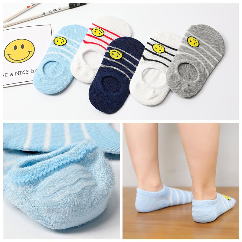 春夏儿童船袜浅口薄款网眼宝宝纯棉袜子男女童3-5-7-9岁低帮薄袜
