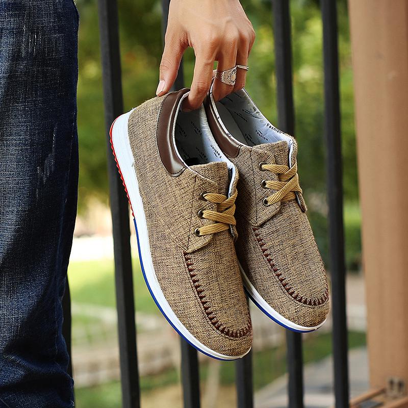 老北京2018秋季新品布鞋一脚蹬男鞋平底防滑休闲鞋时尚单鞋板鞋潮