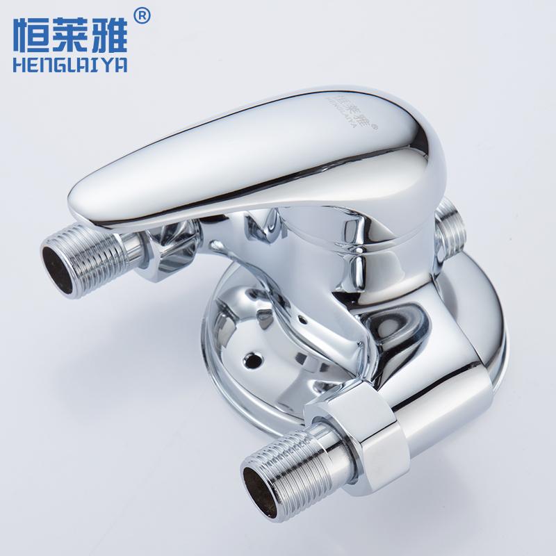 全铜体明装淋浴龙头冷热水龙头明管洗澡花洒套装热水器混水阀开关