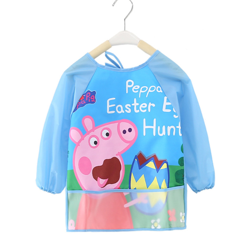 儿童防水罩衣女童宝宝婴儿吃饭衣反穿衣无袖长袖男童画画围裙护衣