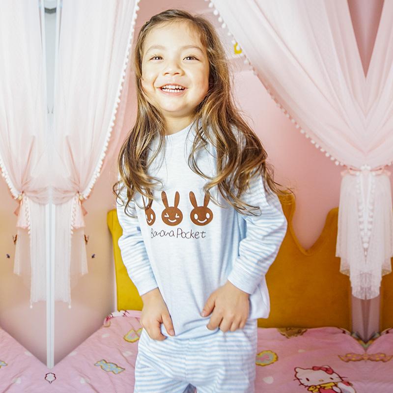 春秋季儿童纯棉内衣套装男女宝宝秋衣秋裤套装天然彩棉婴儿居家服