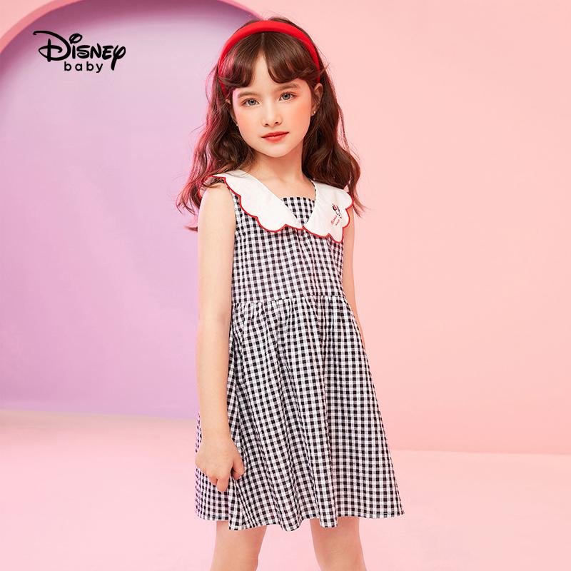迪士尼童装女童夏装连衣裙2021新款宝宝公主裙儿童裙子时尚洋气