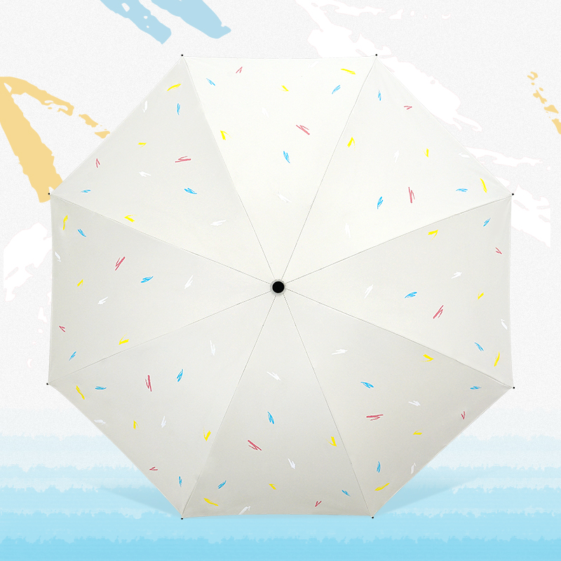 红叶雨伞女晴雨两用韩国小清新森系三折太阳伞防晒防紫外线遮阳伞