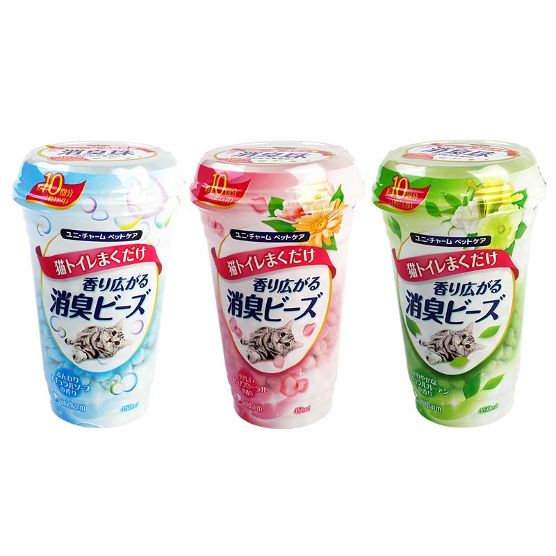 【送170g罐头】日本佳乐滋猫砂除臭珠消臭珠猫屎除臭剂香珠除臭粉