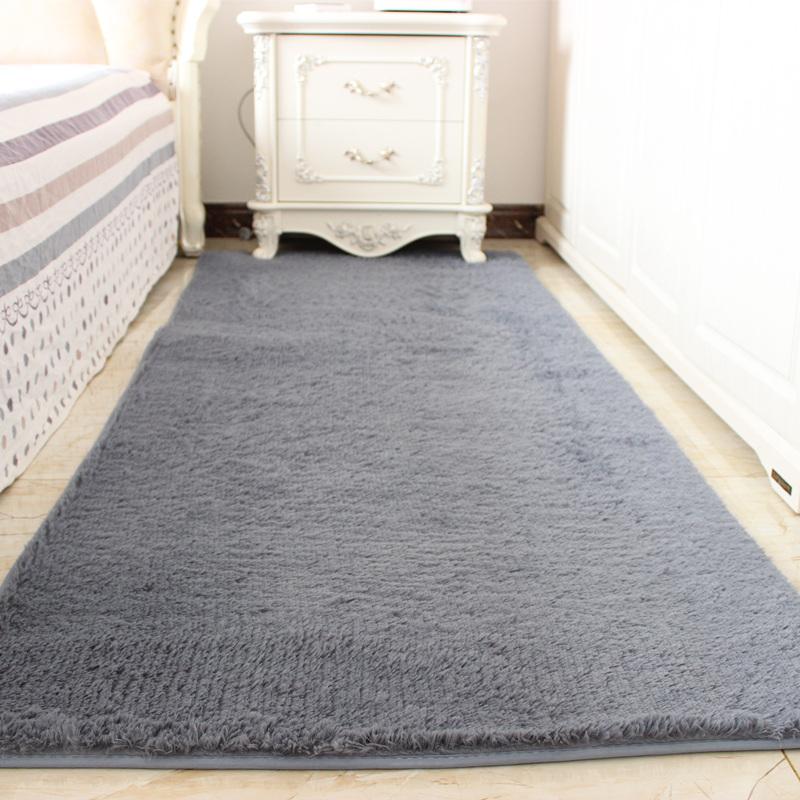地毯卧室床边床前床尾满铺公主房间可爱简约现代客厅毯长方形垫子
