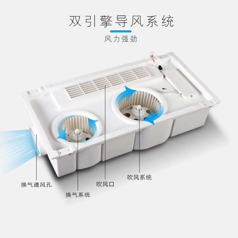 小米凉霸厨房嵌入式集成吊顶照明换气三合一冷风卫生间换气扇冷霸