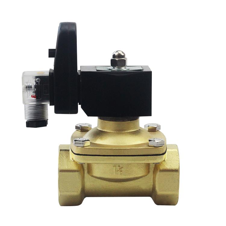 徽正定时电磁阀2w-200-20b 不锈钢304材质电子排水阀气阀6分接口图片
