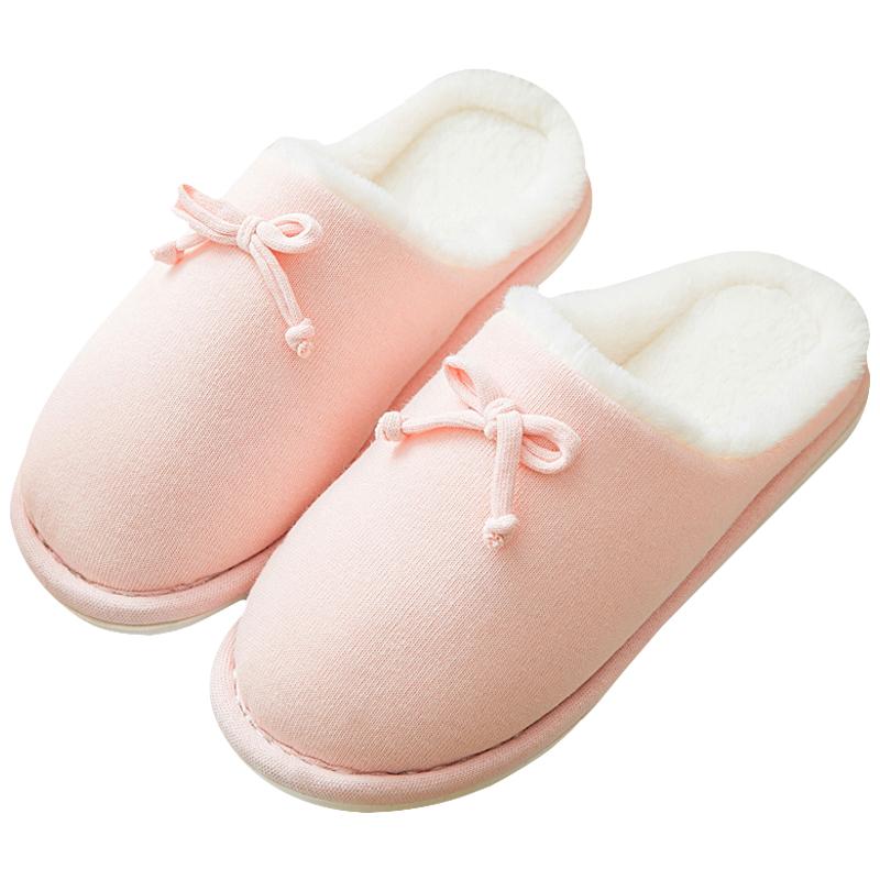 买一送一棉拖鞋女冬季家居家用室内情侣保暖月子鞋防滑厚底拖鞋男