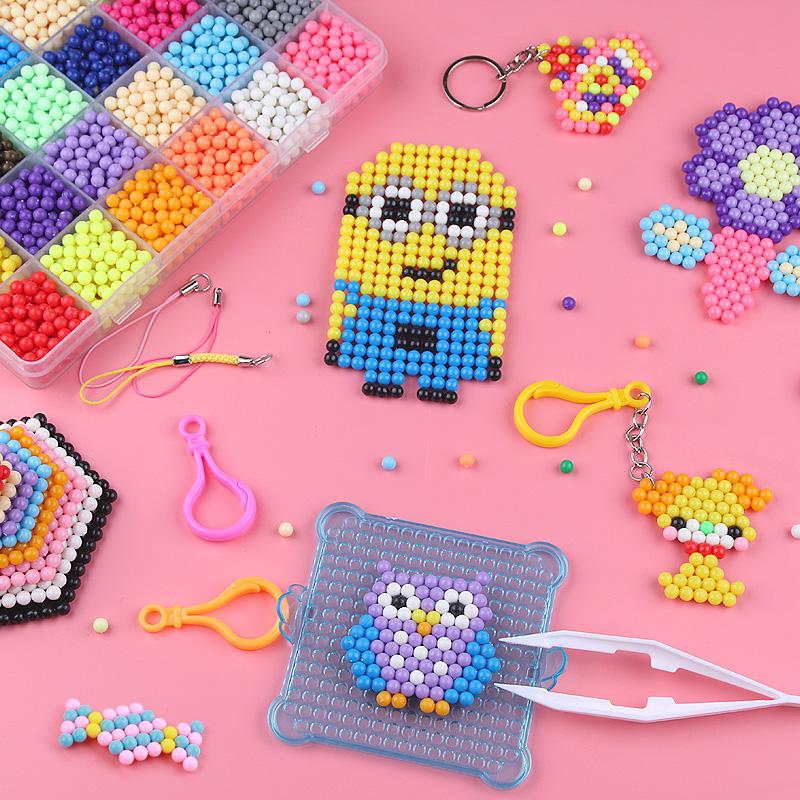 水雾神奇魔法珠女孩手工diy喷水男孩拼豆豆水粘魔珠制作儿童玩具