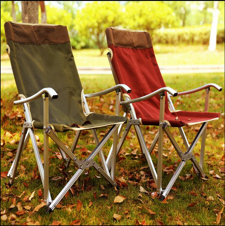 家用便携式午休椅躺椅靠背椅钓鱼椅休闲椅 户外超轻铝合金折叠椅