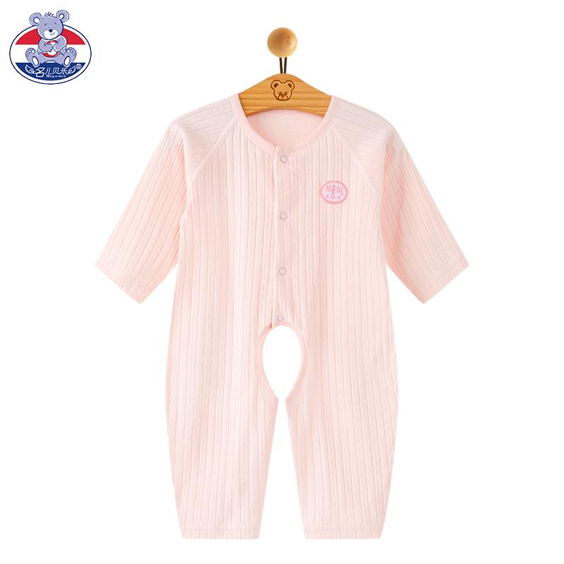 婴儿连体衣服春秋冬女新生儿0-3月睡衣夏季宝宝哈衣纯棉薄款春装